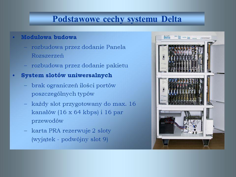 DELTA DELTA 320 max. 318 portów 19 slotów DELTA 160 max. 158 portów 9 slotów DELTA 480 max. 478 portów 29 slotów