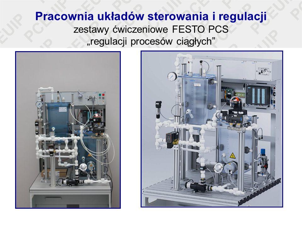 Pracownia układów sterowania i regulacji zestawy ćwiczeniowe FESTO PCS regulacji procesów ciągłych