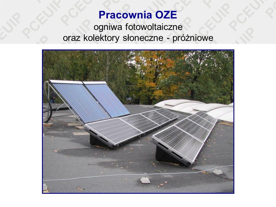 Pracownia OZE ogniwa fotowoltaiczne oraz kolektory słoneczne - próżniowe