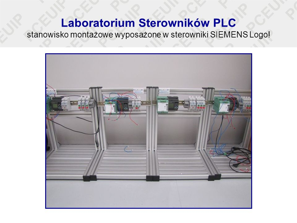 Laboratorium sterowników PLC zestawy wyposażone w Sterowniki SIEMENS ET200 wraz z dodatkowymi modułami oraz panelami operatorskimi