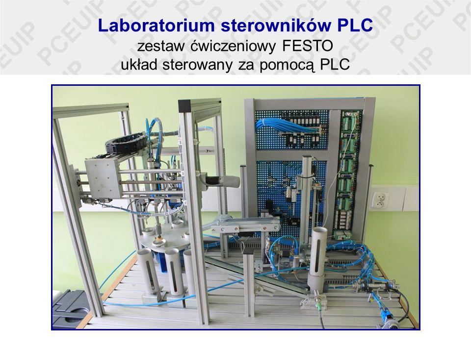 Laboratorium sterowników PLC zestaw ćwiczeniowy FESTO układ sterowany za pomocą PLC