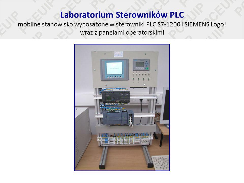 Laboratorium Sterowników PLC mobilne stanowisko wyposażone w sterowniki PLC S7-1200 i SIEMENS Logo! wraz z panelami operatorskimi