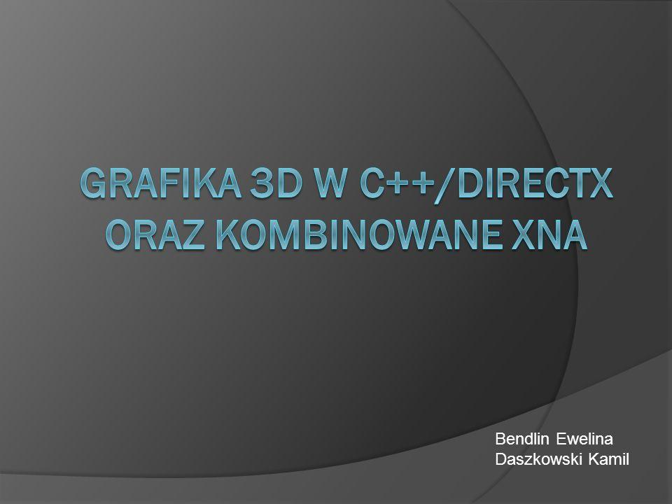 DirectX DirectX – zestaw funkcji API wspomagających generowanie grafiki (dwu- i trójwymiarowej), dźwięku oraz innych zadań związanych zwykle z grami i innymi aplikacjami multimedialnymi.