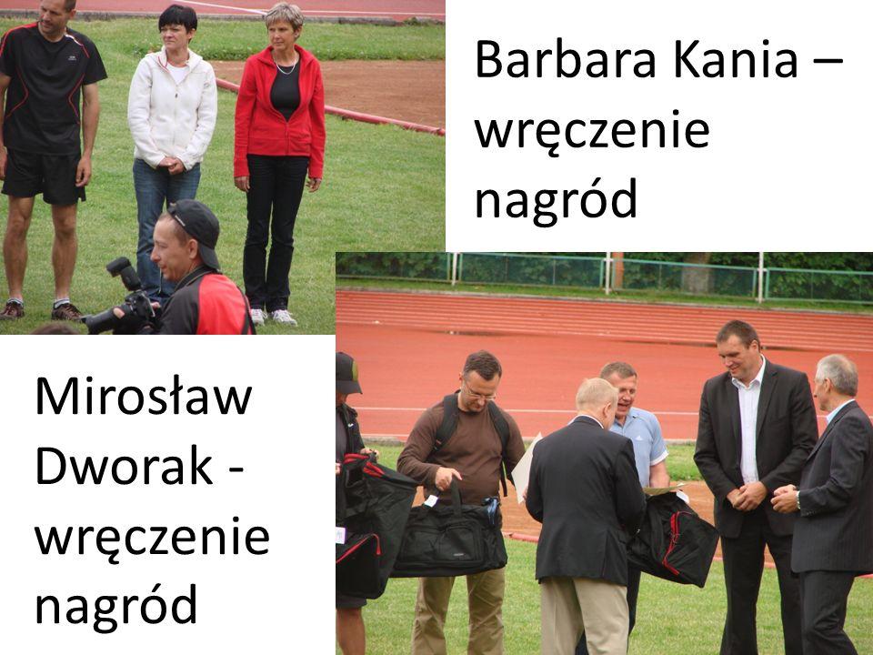 Mirosław Dworak - wręczenie nagród Barbara Kania – wręczenie nagród