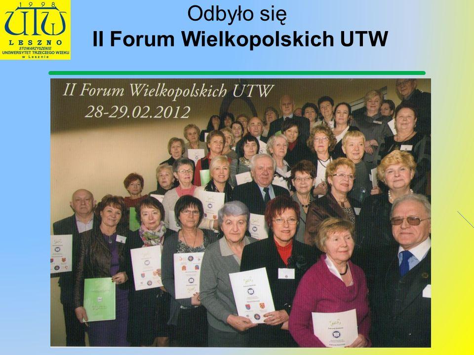 Odbyło się II Forum Wielkopolskich UTW