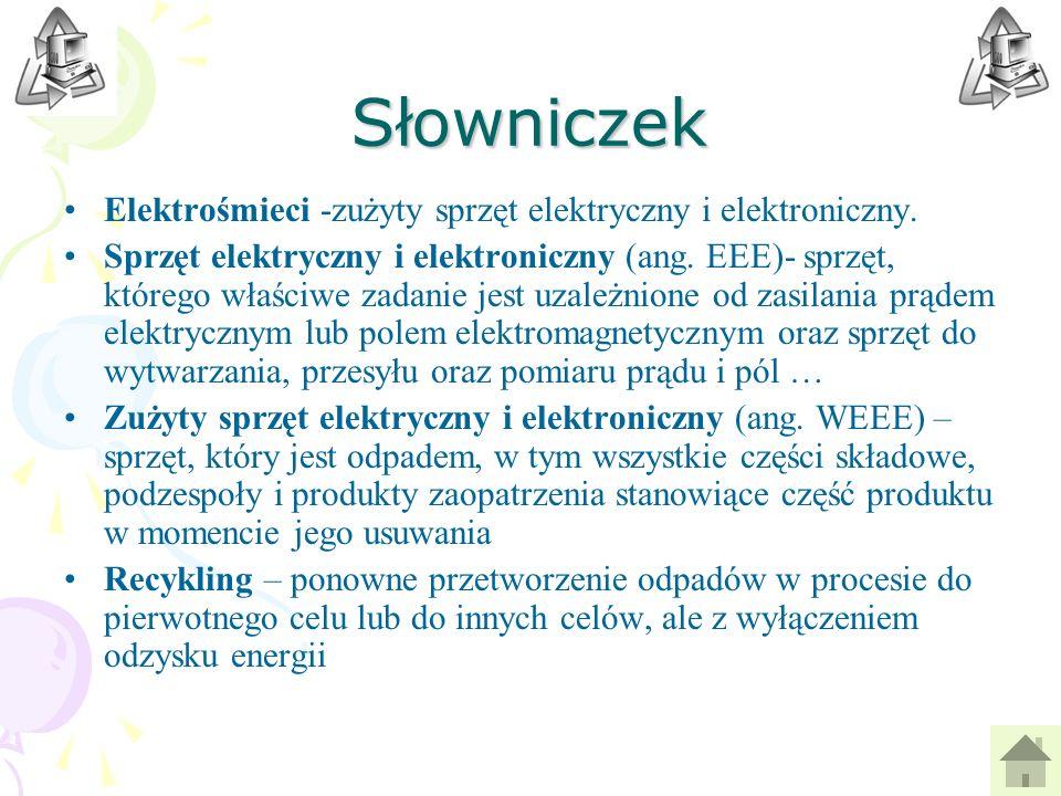 Prawo Wyrzucając elektrośmieci do śmietnika, nie tylko stwarzamy zagrożenie dla środowiska, ale także łamiemy prawo, które obowiązuje w Polsce od 29 lipca 2005 (ustawa o ZSEE).