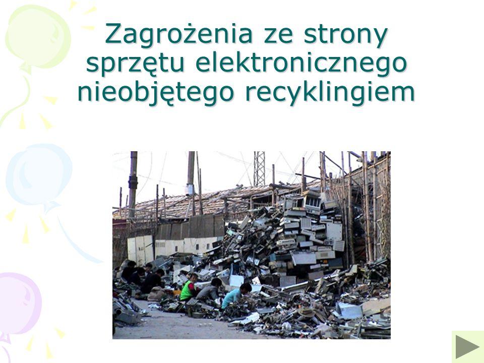 Zagrożenia ze strony sprzętu elektronicznego nieobjętego recyklingiem