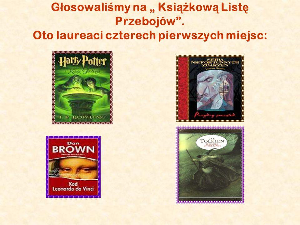 G ł osowali ś my na Ksi ąż kow ą List ę Przebojów. Oto laureaci czterech pierwszych miejsc: