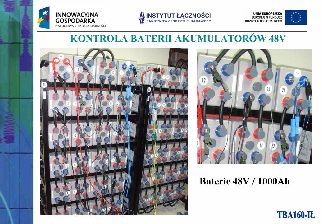 KONTROLA BATERII AKUMULATORÓW 48V Baterie 48V / 1000Ah