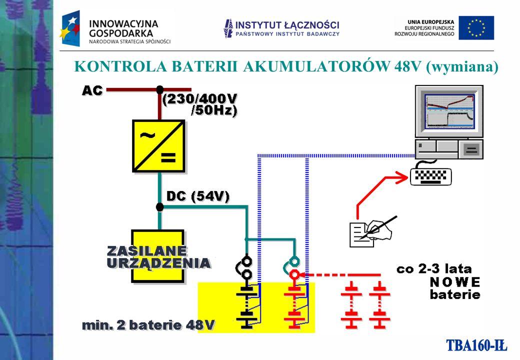 KONTROLA BATERII AKUMULATORÓW 48V (wymiana)