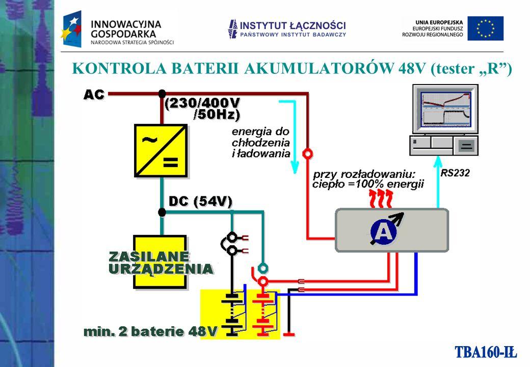 KONTROLA BATERII AKUMULATORÓW 48V (tester R)