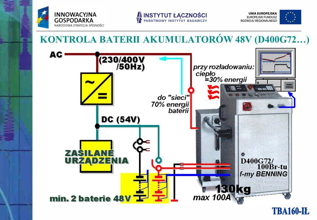 KONTROLA BATERII AKUMULATORÓW 48V (D400G72…)