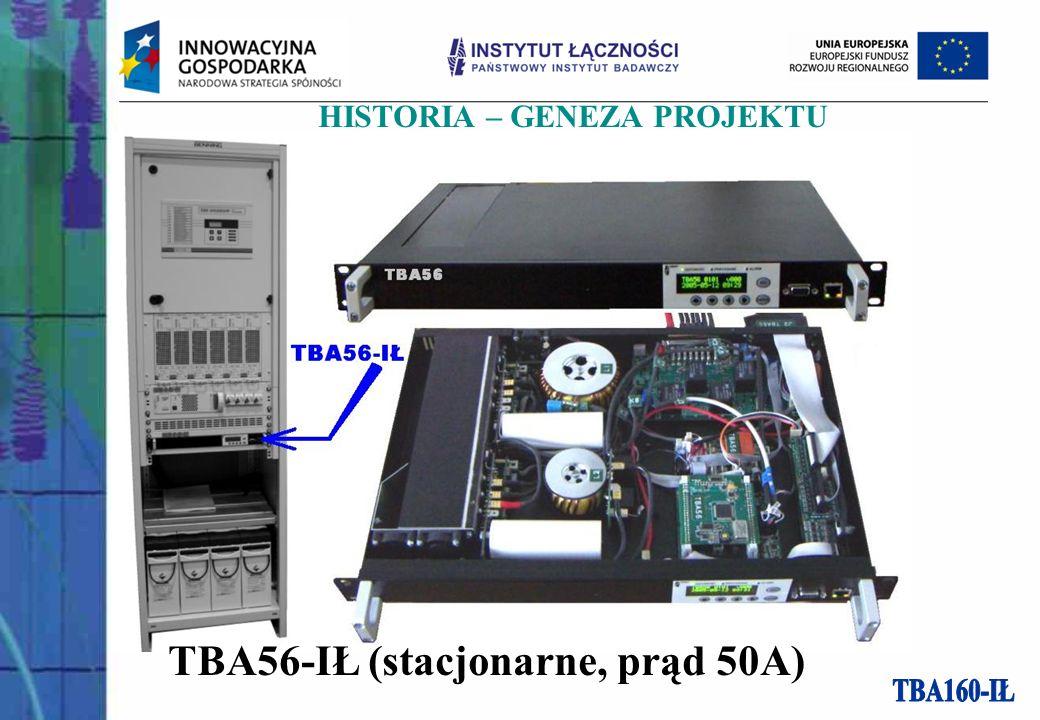 HISTORIA – GENEZA PROJEKTU TBA56-IŁ (stacjonarne, prąd 50A)