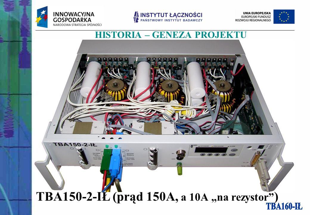 TBA150-2-IŁ (prąd 150A, a 10A na rezystor ) HISTORIA – GENEZA PROJEKTU