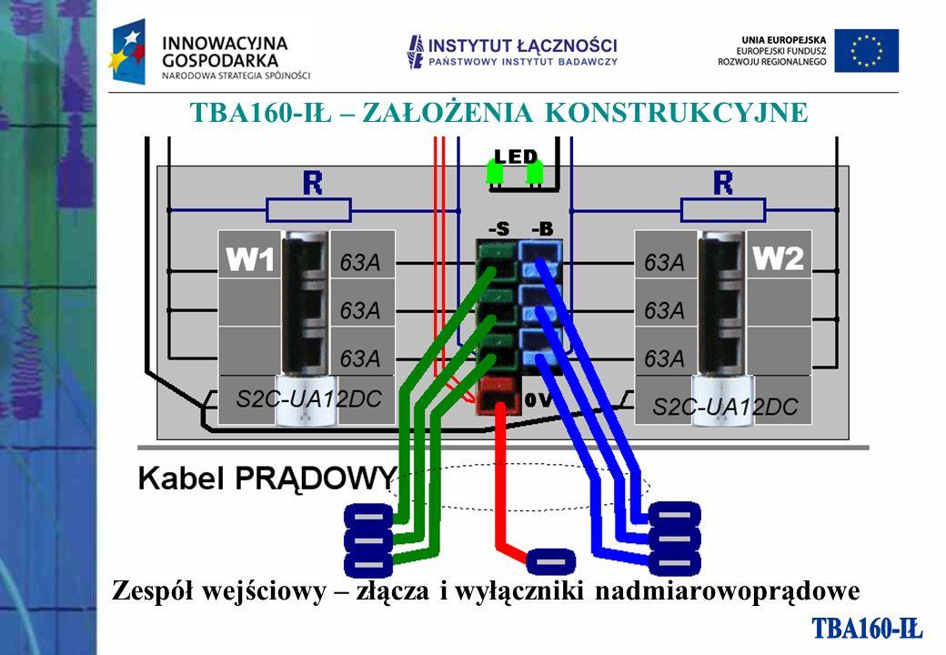 Zespół wejściowy – złącza i wyłączniki nadmiarowoprądowe