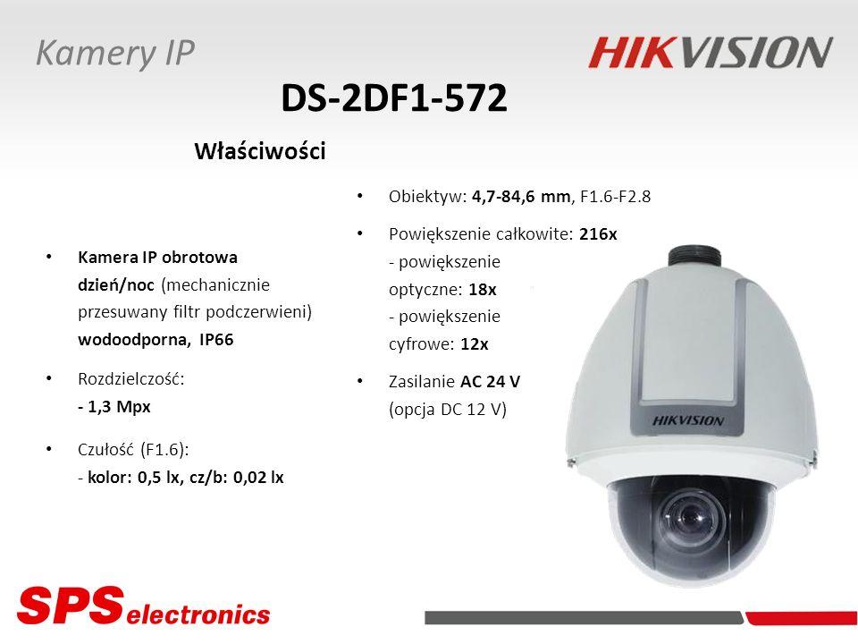 Kamera IP obrotowa dzień/noc (mechanicznie przesuwany filtr podczerwieni) wodoodporna, IP66 Rozdzielczość: - 1,3 Mpx Czułość (F1.6): - kolor: 0,5 lx,