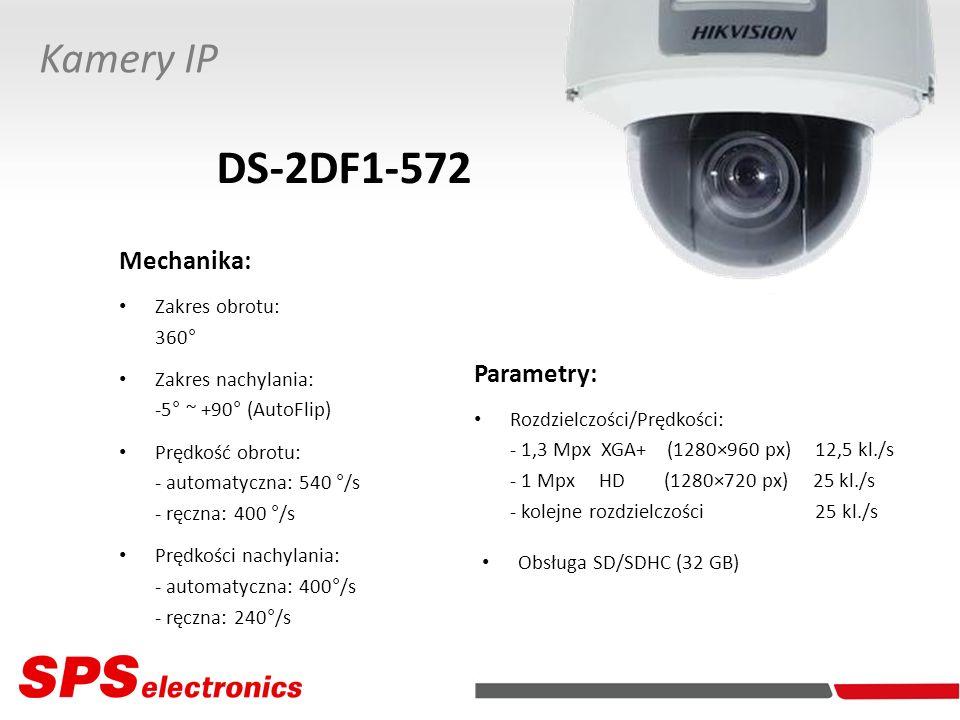 Parametry: Rozdzielczości/Prędkości: - 1,3 Mpx XGA+ (1280×960 px) 12,5 kl./s - 1 Mpx HD (1280×720 px) 25 kl./s - kolejne rozdzielczości 25 kl./s Kamer
