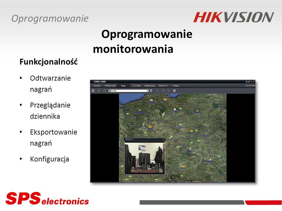 Odtwarzanie nagrań Przeglądanie dziennika Eksportowanie nagrań Konfiguracja Oprogramowanie monitorowania Oprogramowanie