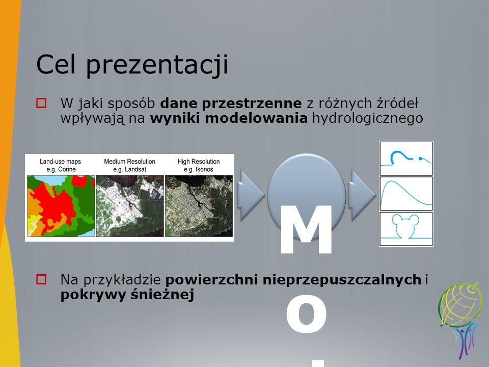 Cel prezentacji W jaki sposób dane przestrzenne z różnych źródeł wpływają na wyniki modelowania hydrologicznego Na przykładzie powierzchni nieprzepusz
