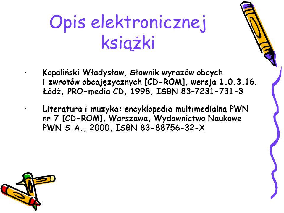 Opis elektronicznej książki Kopaliński Władysław, Słownik wyrazów obcych i zwrotów obcojęzycznych [CD-ROM], wersja 1.0.3.16.