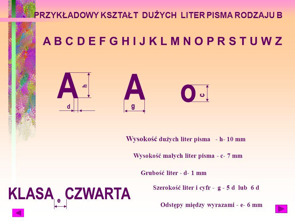 rodzaj A oraz oraz rodzaj B W szkole podstawowej używane jest pismo rodzaju B.