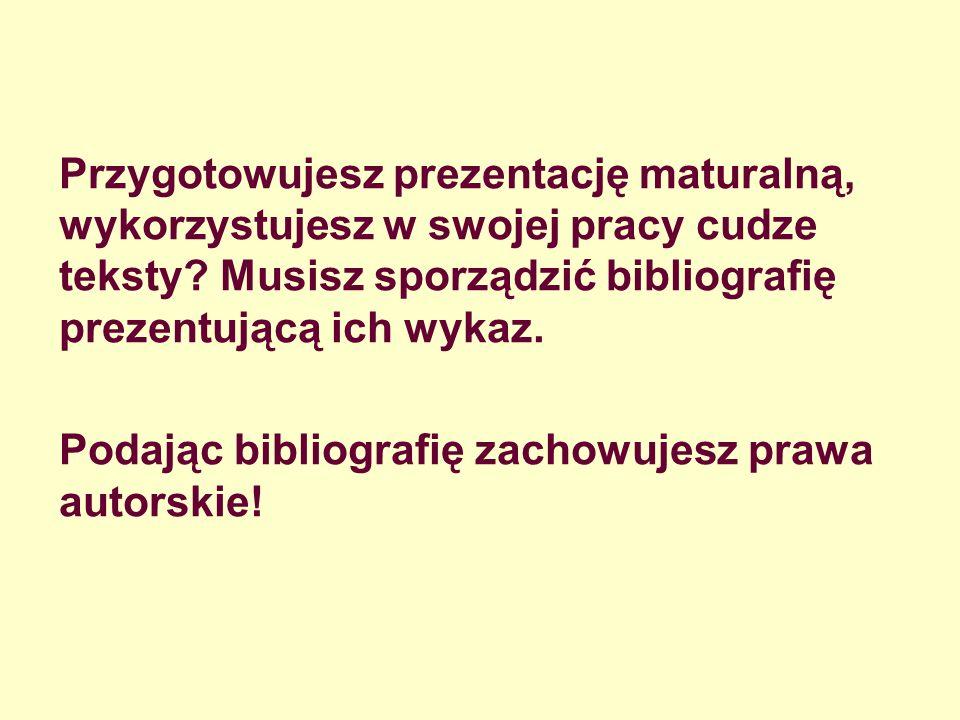 Przykład: Opis z elementami obowiązkowymi: Sienkiewicz Henryk: Wybór nowel i opowiadań.