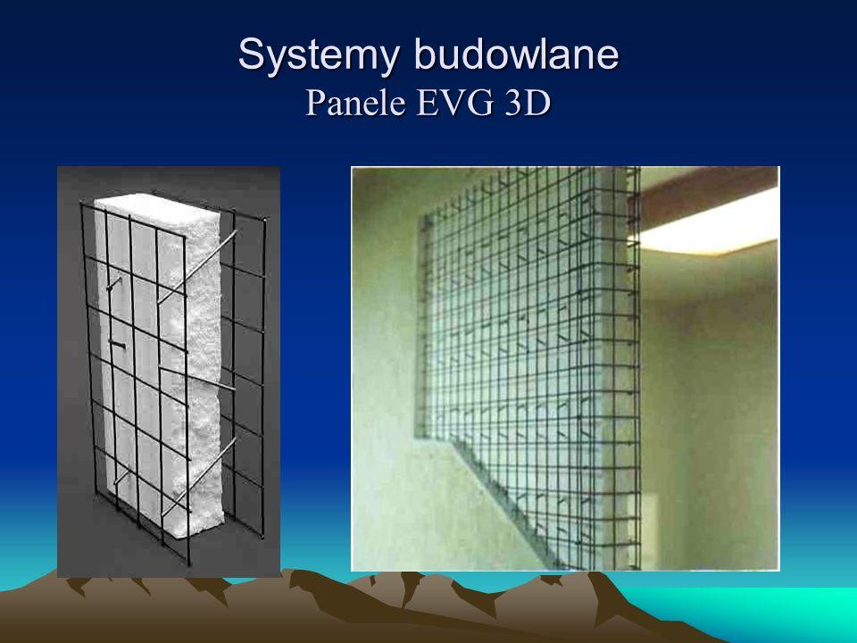 Systemy budowlane Panele EVG 3D