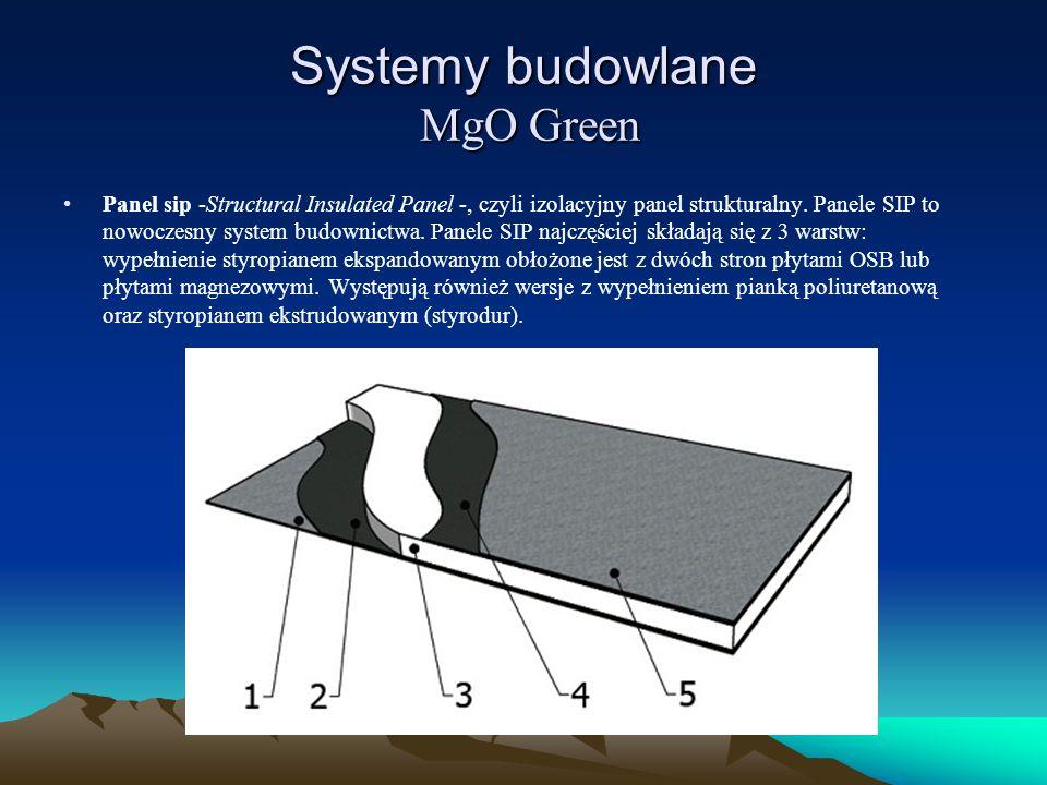 Systemy budowlane MgO Green Panel sip -Structural Insulated Panel -, czyli izolacyjny panel strukturalny. Panele SIP to nowoczesny system budownictwa.