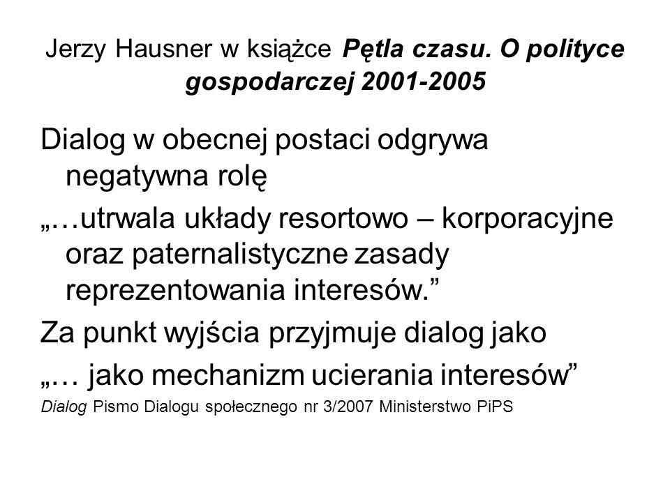 Jerzy Hausner w książce Pętla czasu.