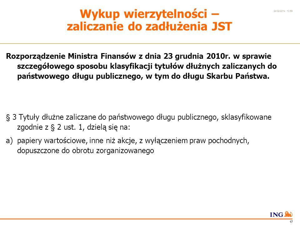 Do not put content in the Brand Signature area 24/02/2014 10:59 16 Wykup wierzytelności – realizacje