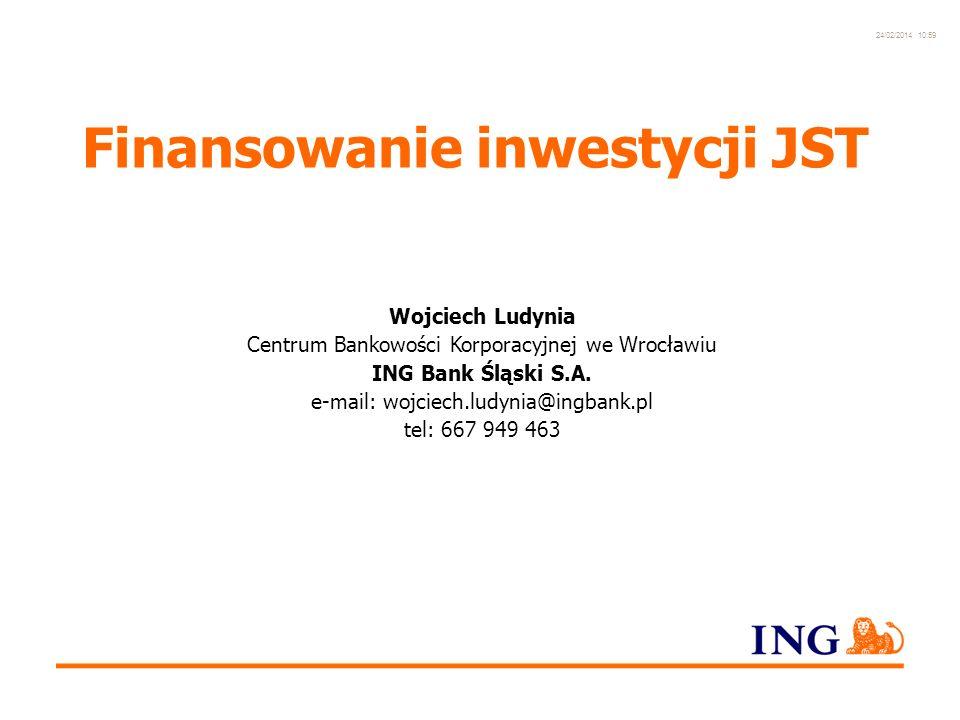 Do not put content in the Brand Signature area 24/02/2014 10:59 20 Wydłużenie okresu zapłaty za inwestycję bez zaliczania do długu JST – zapisy w SIWZ