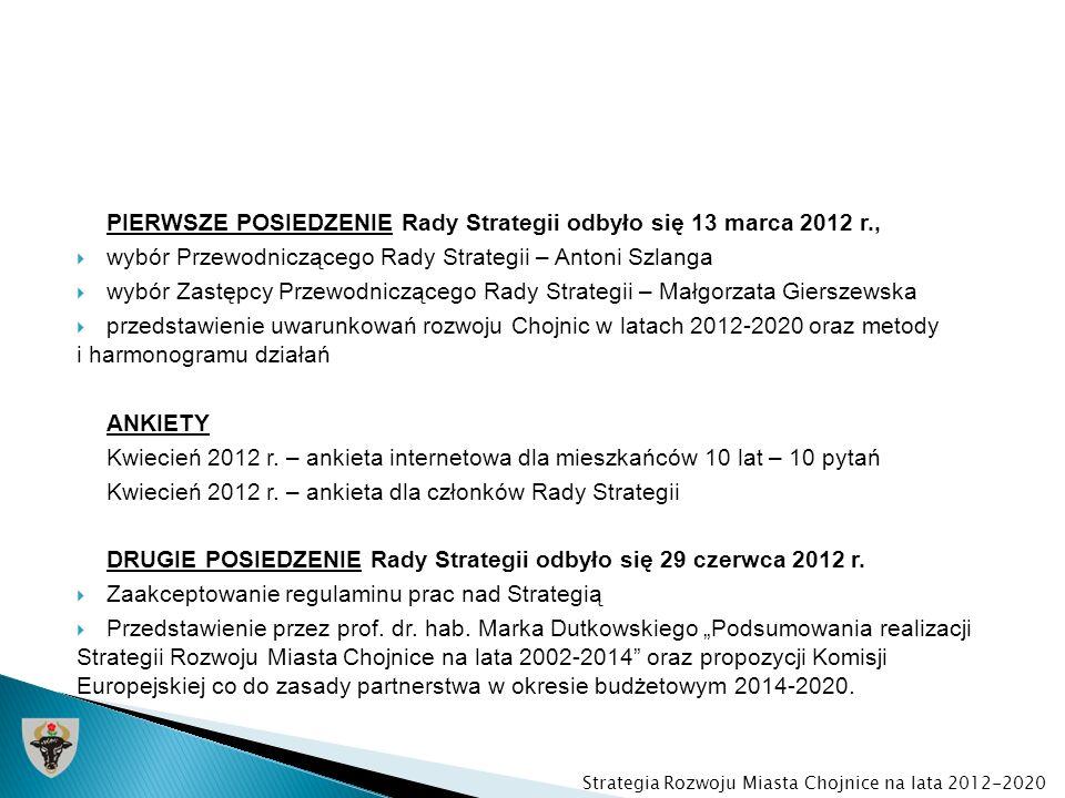 PIERWSZE POSIEDZENIE Rady Strategii odbyło się 13 marca 2012 r., wybór Przewodniczącego Rady Strategii – Antoni Szlanga wybór Zastępcy Przewodnicząceg