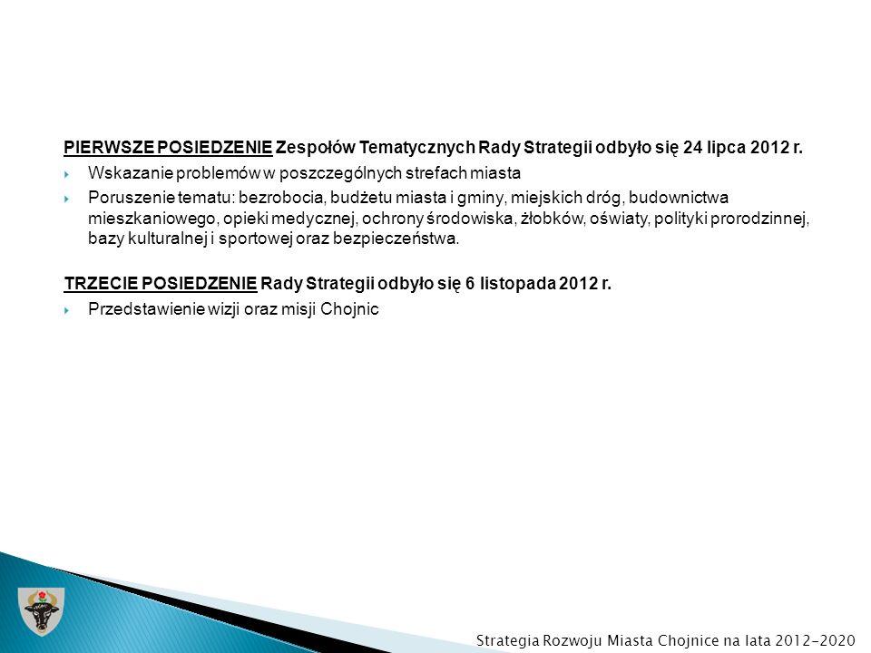 PIERWSZE POSIEDZENIE Zespołów Tematycznych Rady Strategii odbyło się 24 lipca 2012 r. Wskazanie problemów w poszczególnych strefach miasta Poruszenie