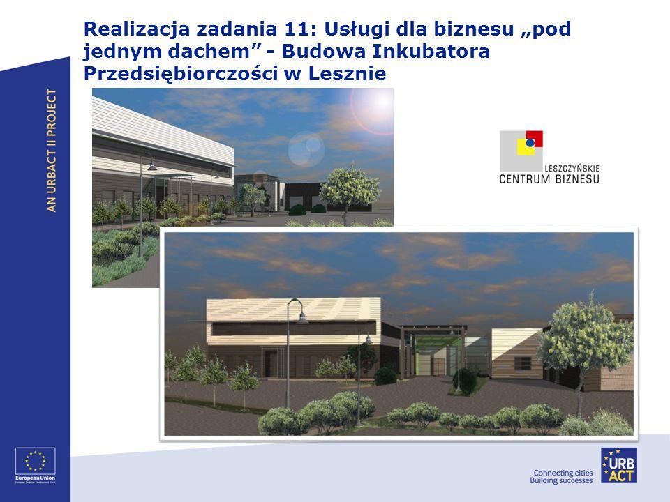 Realizacja zadania 11: Usługi dla biznesu pod jednym dachem - Budowa Inkubatora Przedsiębiorczości w Lesznie