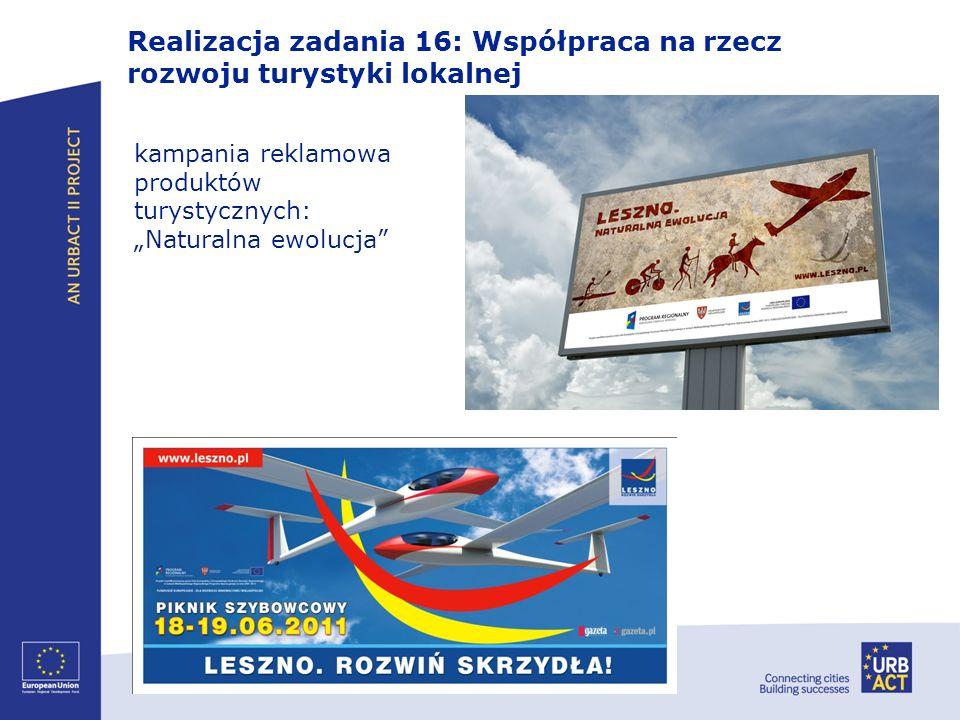 Realizacja zadania 16: Współpraca na rzecz rozwoju turystyki lokalnej kampania reklamowa produktów turystycznych: Naturalna ewolucja