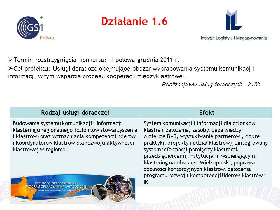 Termin rozstrzygnięcia konkursu: II połowa grudnia 2011 r. Cel projektu: Usługi doradcze obejmujące obszar wypracowania systemu komunikacji i informac