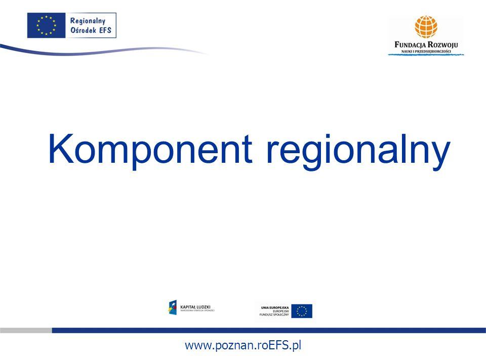 www.poznan.roEFS.pl Komponent regionalny