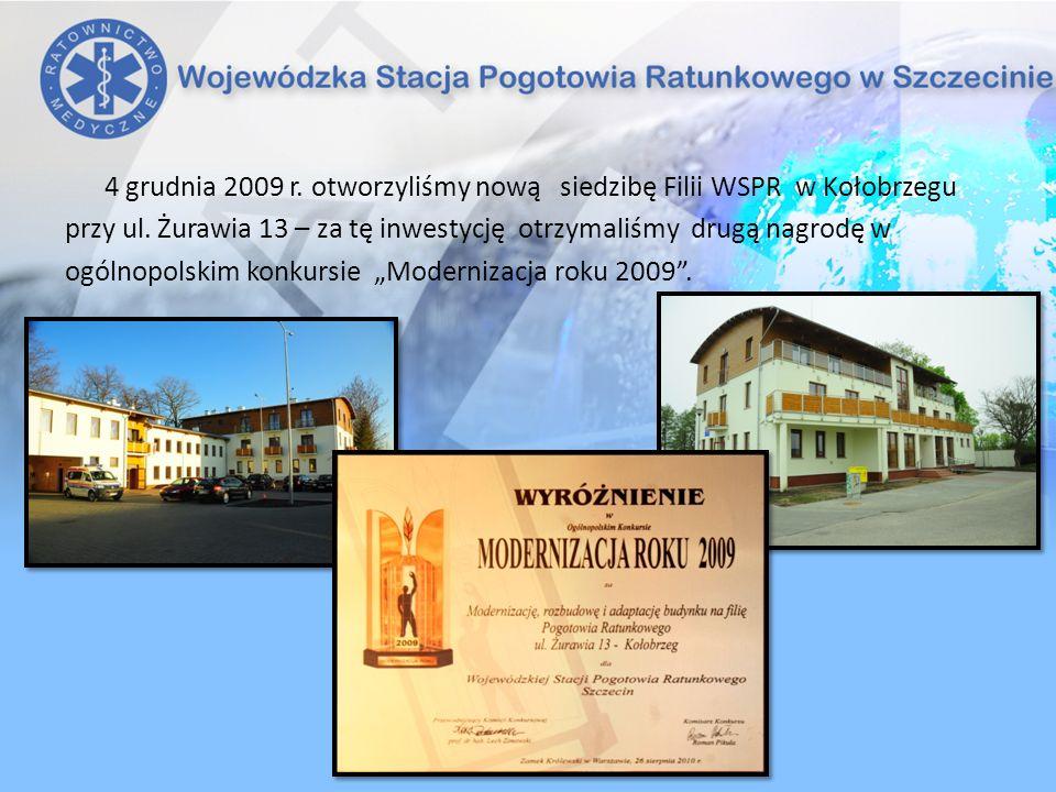 4 grudnia 2009 r. otworzyliśmy nową siedzibę Filii WSPR w Kołobrzegu przy ul. Żurawia 13 – za tę inwestycję otrzymaliśmy drugą nagrodę w ogólnopolskim
