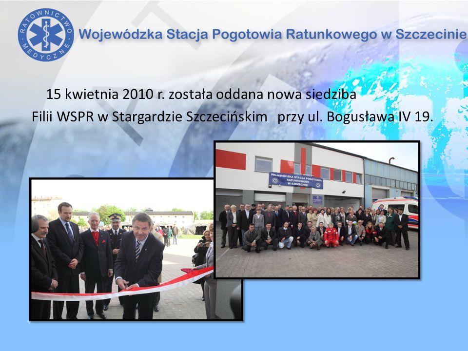 15 kwietnia 2010 r. została oddana nowa siedziba Filii WSPR w Stargardzie Szczecińskim przy ul. Bogusława IV 19.