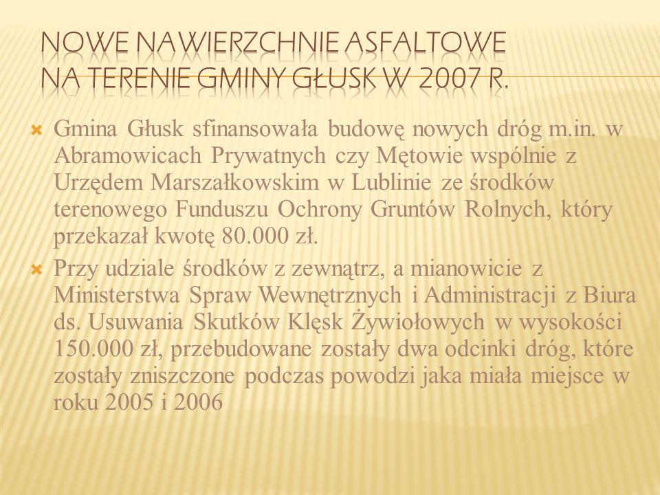 Gmina w roku 2004 otrzymała dotację z Banku Światowego na zakup pomocy dydaktycznych do szkół – wartość zadania 61.826,20 zł w tym: gmina -26.586,20,