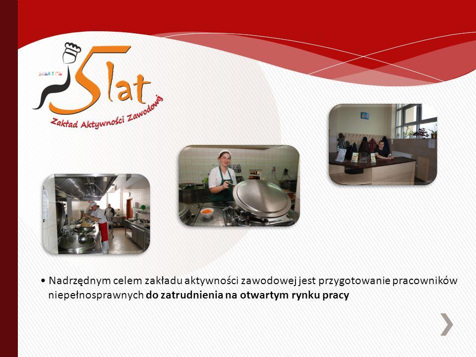 Nadrzędnym celem zakładu aktywności zawodowej jest przygotowanie pracowników niepełnosprawnych do zatrudnienia na otwartym rynku pracy