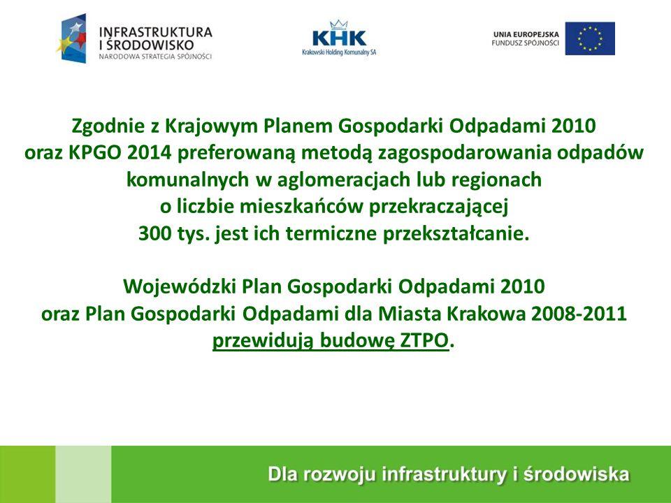 Zgodnie z Krajowym Planem Gospodarki Odpadami 2010 oraz KPGO 2014 preferowaną metodą zagospodarowania odpadów komunalnych w aglomeracjach lub regionac
