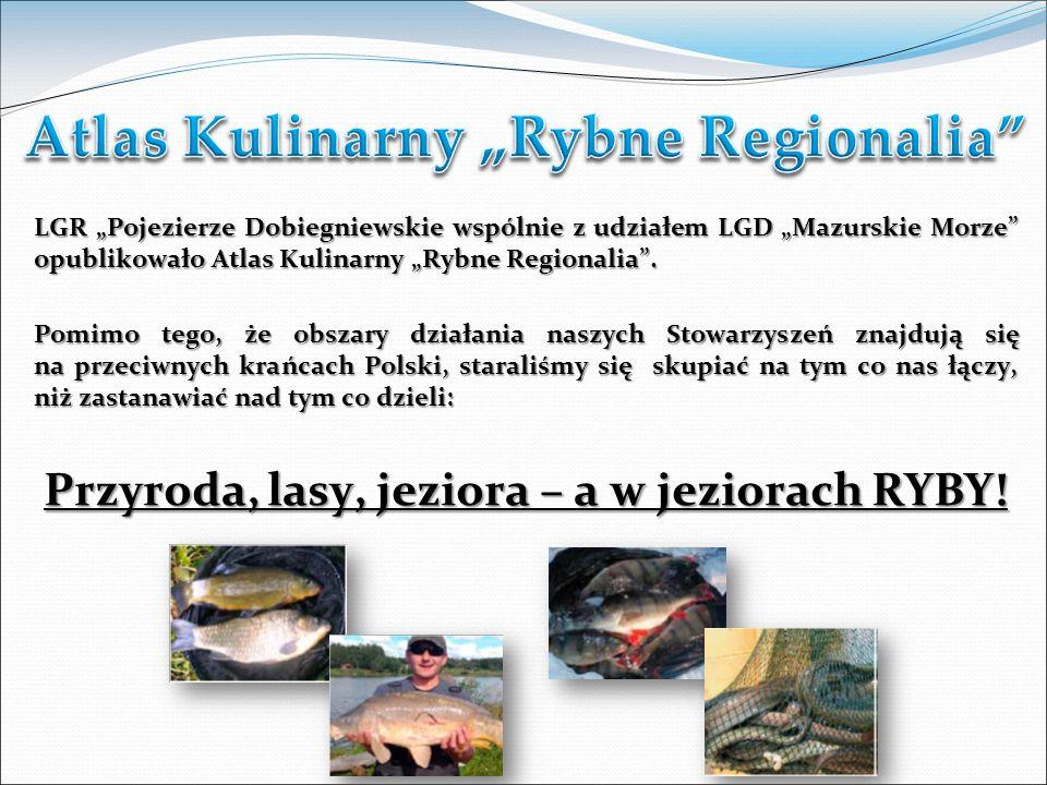 LGR Pojezierze Dobiegniewskie wspólnie z udziałem LGD Mazurskie Morze opublikowało Atlas Kulinarny Rybne Regionalia.