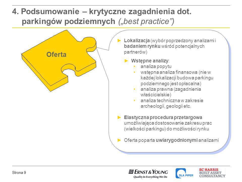 Strona 9 Oferta Lokalizacja (wybór poprzedzony analizami i badaniem rynku wśród potencjalnych partnerów) Wstępne analizy: analiza popytu wstępna anali
