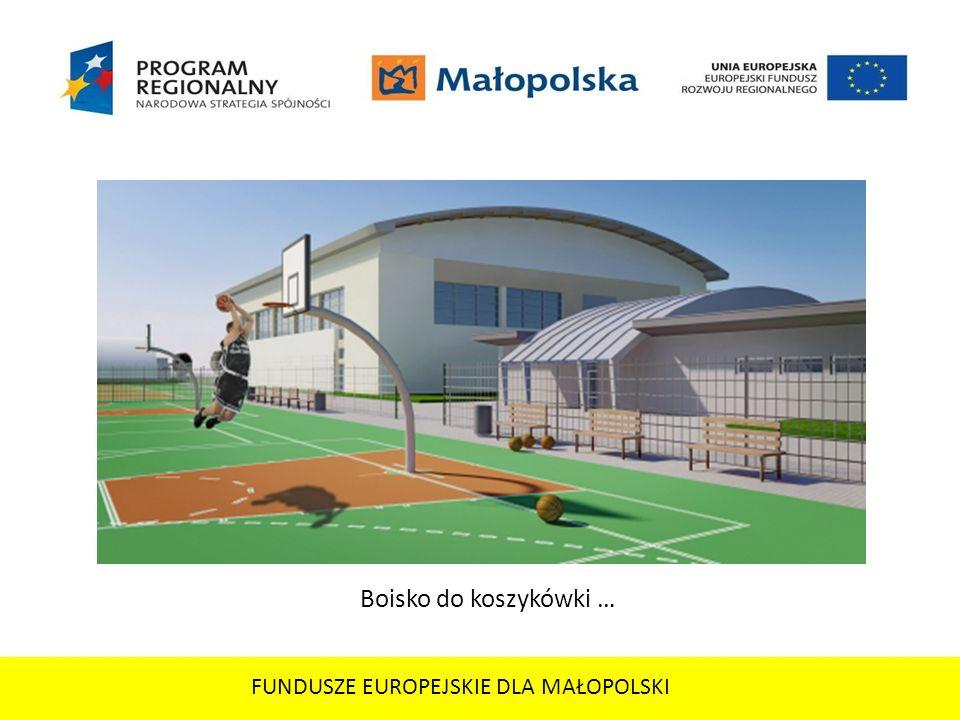FUNDUSZE EUROPEJSKIE DLA MAŁOPOLSKI Boisko do koszykówki …