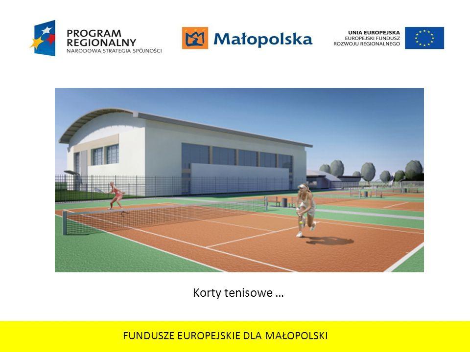 FUNDUSZE EUROPEJSKIE DLA MAŁOPOLSKI Korty tenisowe …