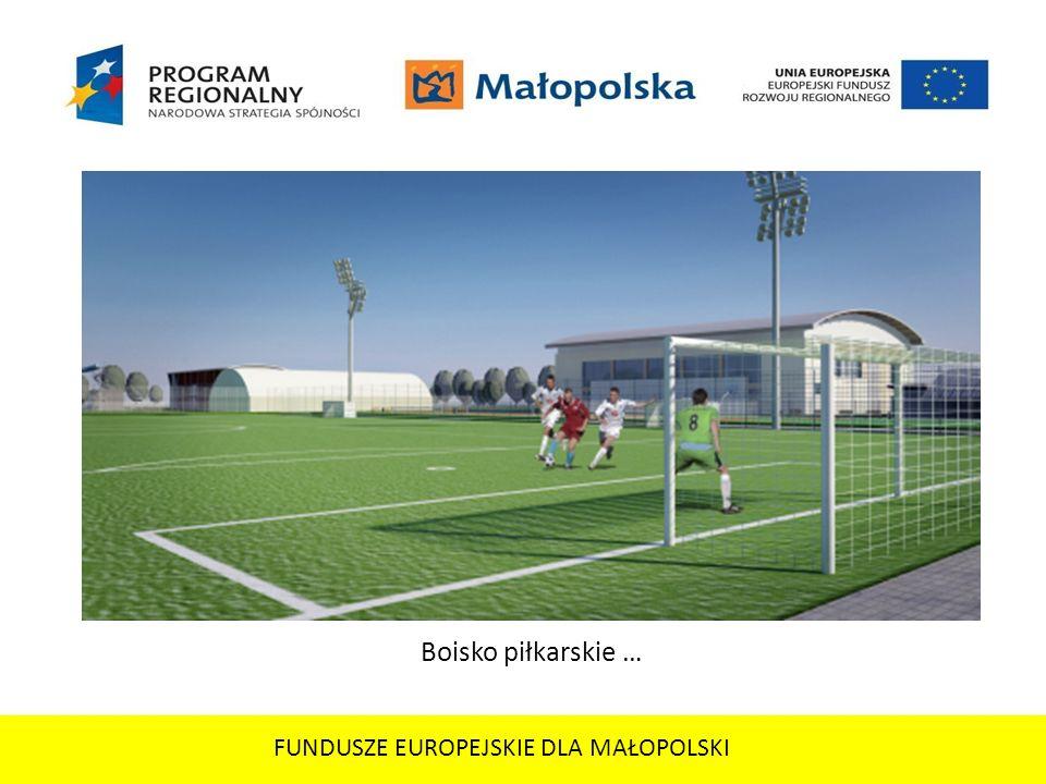FUNDUSZE EUROPEJSKIE DLA MAŁOPOLSKI Boisko piłkarskie …