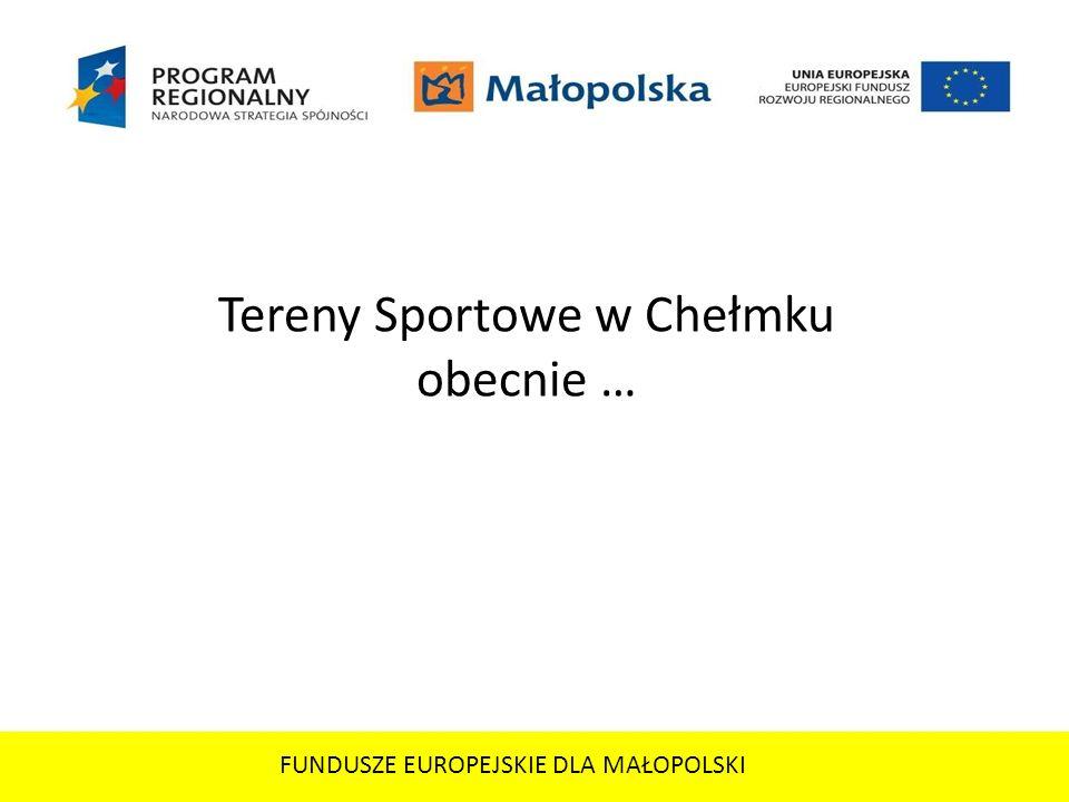 Tereny Sportowe w Chełmku obecnie …