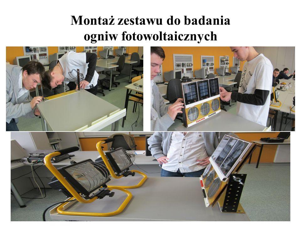 Montaż zestawu do badania ogniw fotowoltaicznych