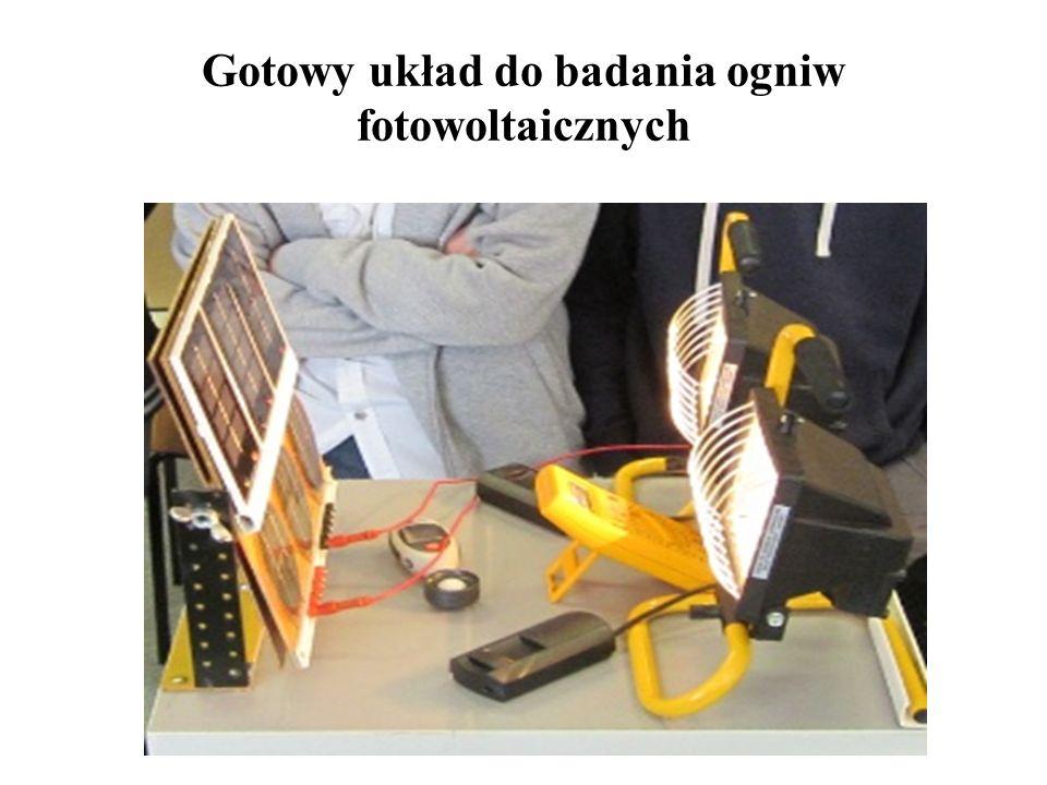 Gotowy układ do badania ogniw fotowoltaicznych